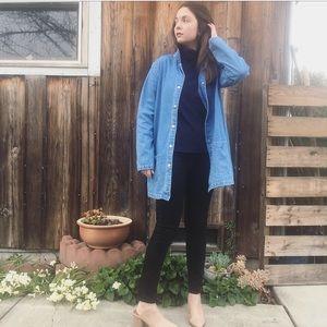 Vintage minimalist denim jean chore coat jacket